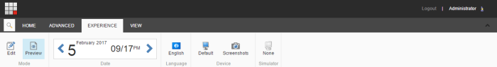 Sitecore Page Preview Ribbon