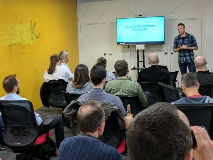 Matthew Neil Presenting at Sitecore User Group Manchester